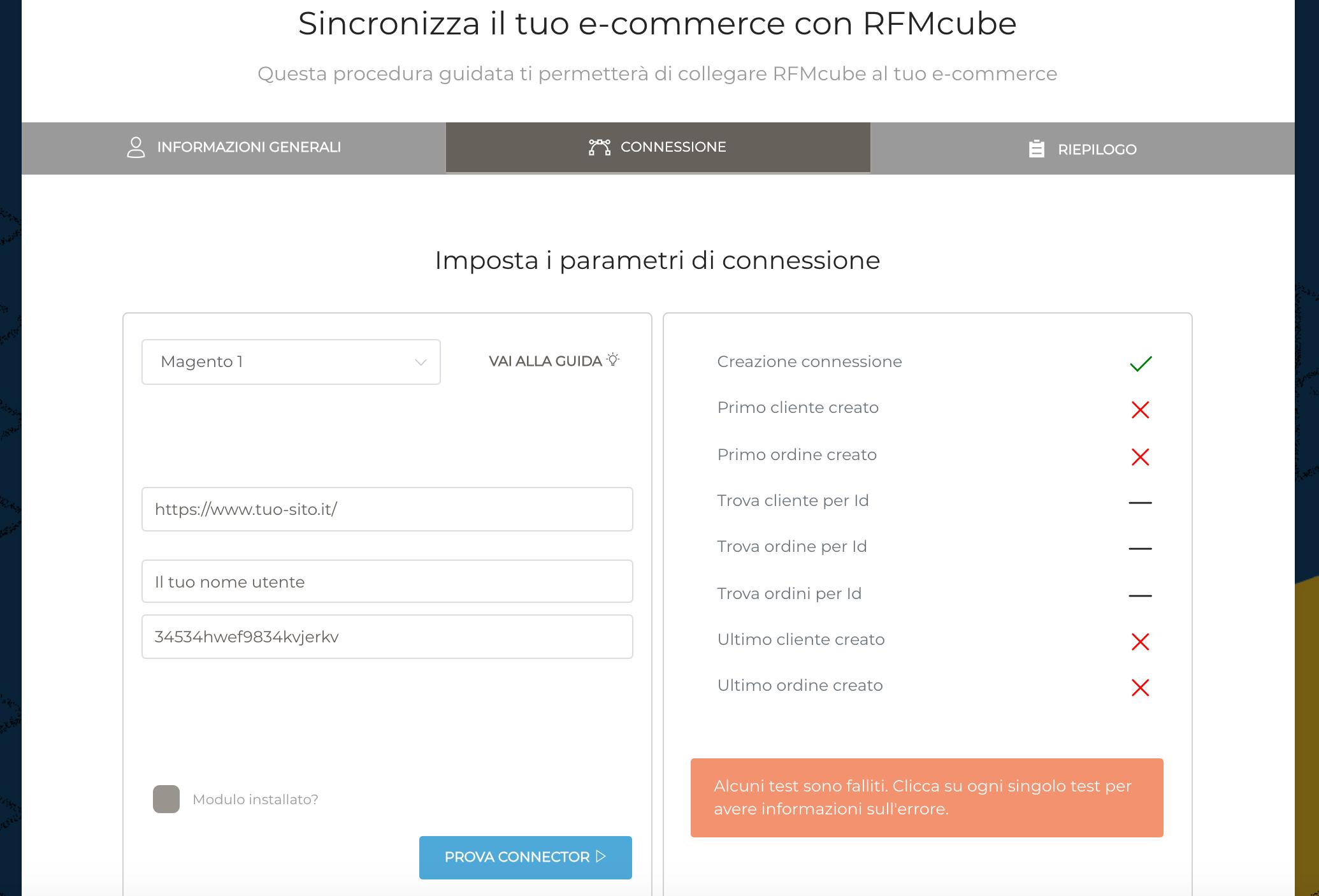 configuratore rfmcube integrazione per ecommerce
